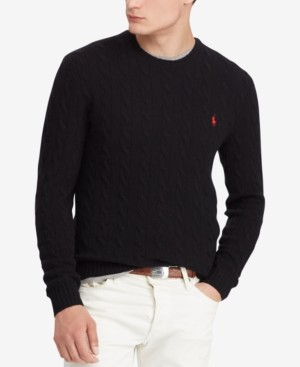 Polo Ralph Lauren Men's Cable Wool-Cashmere Sweater