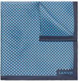 Lanvin Printed Silk Pocket Square