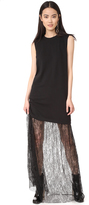 McQ by Alexander McQueen Alexander McQueen Lace Mix Maxi Dress