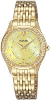 Pulsar Womens Gold Tone Bracelet Watch-Pm2236