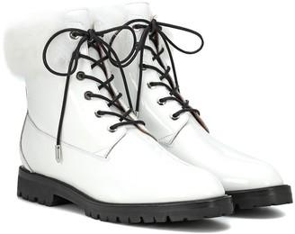 Aquazzura Heilbrunner fur-trimmed ankle boots
