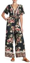 Angie Floral Back Cutout Jumpsuit