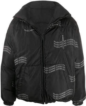Givenchy Studio Homme reversible padded jacket