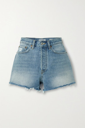 RE/DONE 70s Frayed Denim Shorts