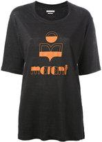 Etoile Isabel Marant logo front T-shirt - women - Linen/Flax - XS