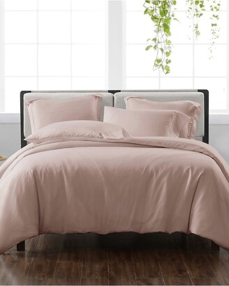 Cannon Solid Blush 3Pc Duvet Cover Set