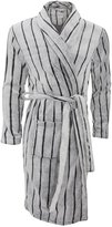 Wolf & Harte Mens Striped Supersoft Fleece Dressing Gown/Robe (M/L)