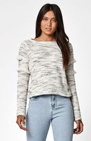 Billabong Only One Fringed Crew Neck Sweatshirt