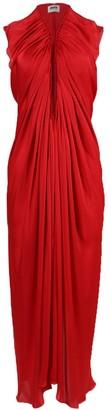 Maison Rabih Kayrouz Red Draped Midi Dress