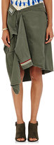 Faith Connexion Women's Military Shirt-Detail Skirt-GREEN