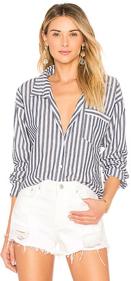 by the way. Kelly Striped Button Up