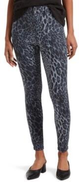 Hue Women's Wavy Leopard Ultra Soft Denim High Waist 7/8 Leggings