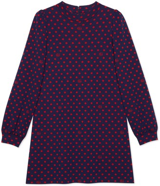 Gucci Polka dot and Double G wool dress