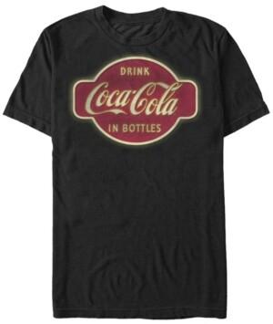 Fifth Sun Men's Retro Neon Sign in Bottles Logo Short Sleeve T- shirt