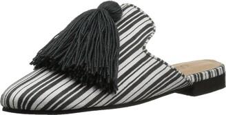Kaanas Women's COCUY Striped Mule Slide with Tassel Shoe