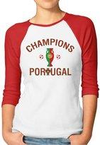 Hera-Boom Women's Portugal Euro 2016 Champions 3/4 Sleeve Baseball Tee Shirt S (2 Colors)