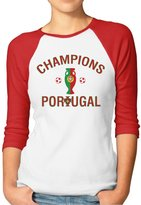 Hera-Boom Women's Portugal Euro 2016 Champions 3/4 Sleeve Baseball Tee Shirts XXL (2 Colors)
