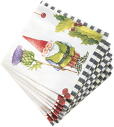 Mackenzie Childs Home Sweet Gnome Cocktail Napkins (Set of 20)