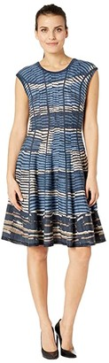 Nic+Zoe Petite Mesmerize Twirl Dress (Multi) Women's Dress
