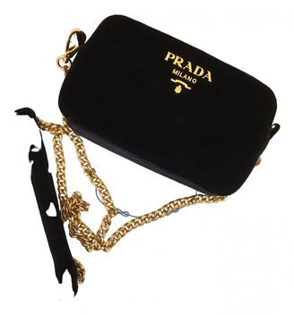 Prada Black Velvet Handbags
