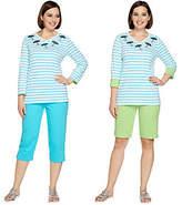Quacker Factory Sequin Splash 3-Piece Knit Wardrobe Set