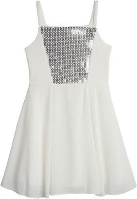 Pippa & Julie Kids' Scuba Sequin Dress