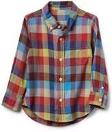 Gap Crazy plaid button-down shirt