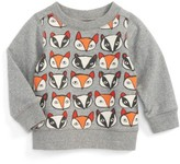 Tea Collection Infant Boy's Fox & Badger Print Sweater