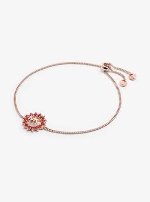 Michael Kors 14K Rose Gold-Plated Sterling Silver Pave Logo Slider Bracelet
