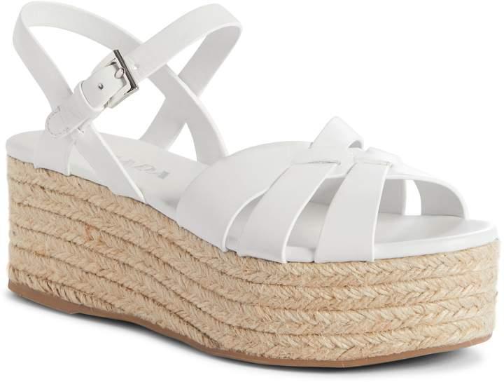 Prada Platform Espadrille Sandal