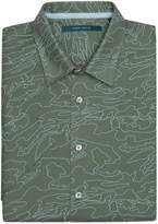 Perry Ellis Short Sleeve Print Map Outline Shirt