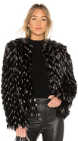 Elizabeth and James Piper Fox Dyed Fur Jacket