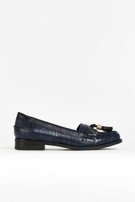 Wallis Navy Tassle Loafer
