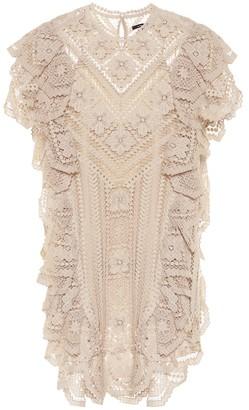 Isabel Marant Zanetti crocheted cotton minidress