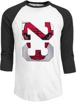 KuZui Mens Chicago Bulls Three-Quarter Sleeve Baseball Style Half Sleeve T Shirts