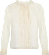 See by Chloe Ruffled-collar mesh blouse