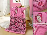 Big 7 Home Beautiful Plush Baby Blanket In Kitty Cat Design Sherpa Fleece for Extra Comfort Perfect for Swaddling and Strolling