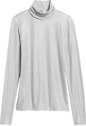 Banana Republic Metallic Soft Stretch Turtleneck T-Shirt
