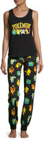 Pokemon Cotton Blend Pant Pajama Set-Juniors