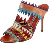 Manolo Blahnik Pinked Triple Strap Sandal