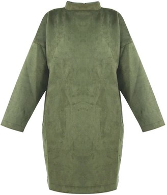 Gisy Green Suede Oversized Tunic Pullover