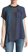 Opening Ceremony Foulard Short-Sleeve Silk Tunic Top, Multi