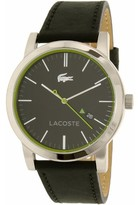 Lacoste Men's Metro 2010847 Black Leather Quartz Dress Watch