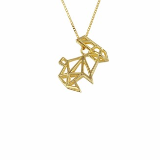 Origami Jewellery Frame Rabbit Necklace Gold