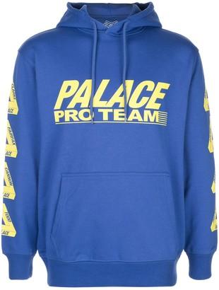 Palace logo print drawstring hoodie
