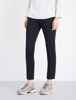Brunello Cucinelli Cropped stretch wool-blend trousers