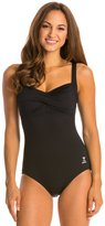 TYR Solid Twisted Bra Controlfit One Piece Swimsuit 20948