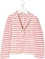 Dondup Kids cotton striped blazer