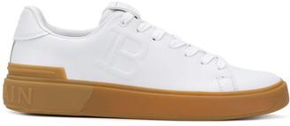 Balmain B-Court embossed low-top sneakers