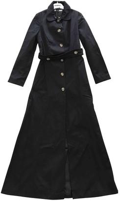 VIVETTA Black Cotton Trench coats